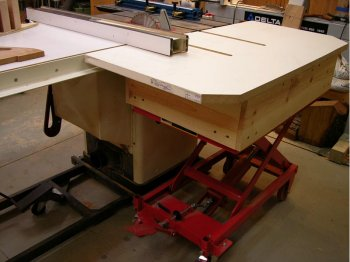 lift cart behind table saw